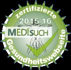 Medisuch-Siegel 2015/16